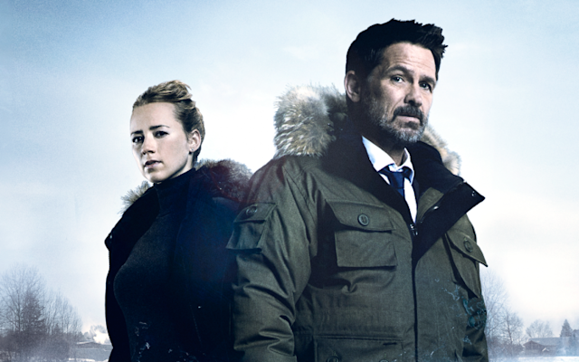 """Karine Vanasse and Billy Campbell in the Canadian import """"Cardinal."""" (Photo: Hulu)"""