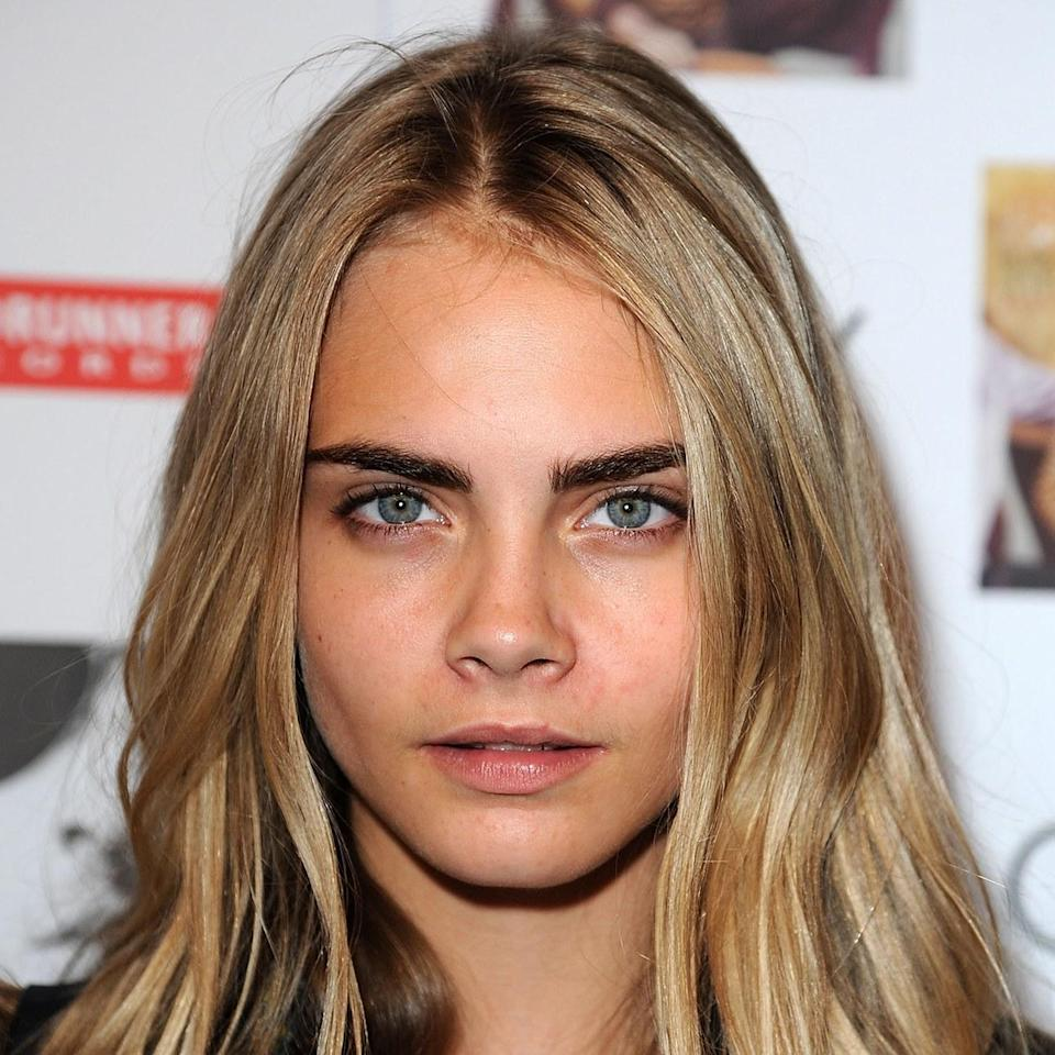 If there's anyone to thank for bringing brows back — big, bushy, deep brown — it's Delevingne, whose natural pair are unapologetically bombastic.