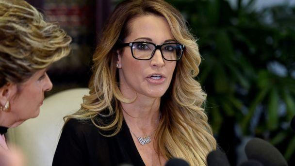PHOTO: Jessica Drake speaks to reporters about allegations of sexual misconduct against Donald Trump, alongside lawyer Gloria Allred (L) during a news conference in Los Angeles, Oct. 22, 2016. (Kevork Djansezian/Reuters)