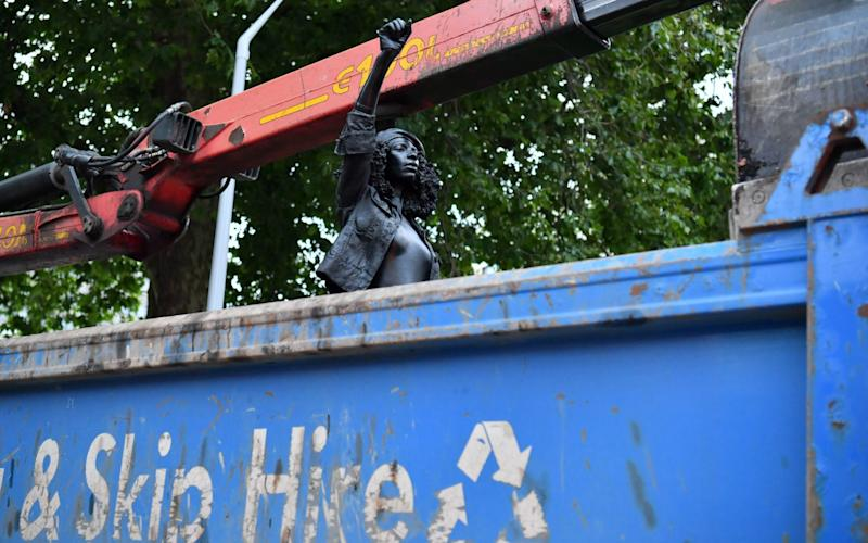 The sculpture of Jen Reid was placed into a skip - PA