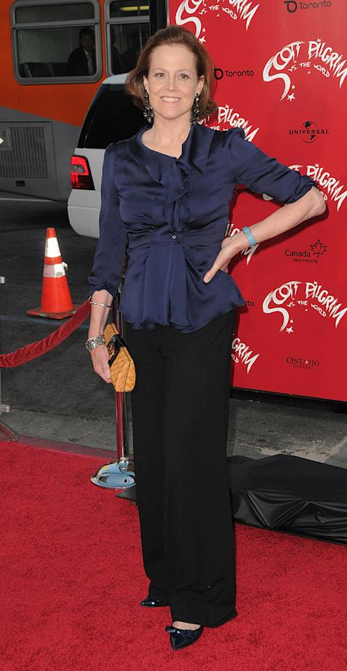 """<a href=""""http://movies.yahoo.com/movie/contributor/1800015109"""">Sigourney Weaver</a> at the Los Angeles premiere of <a href=""""http://movies.yahoo.com/movie/1810070753/info"""">Scott Pilgrim vs. the World</a> - 07/27/2010"""