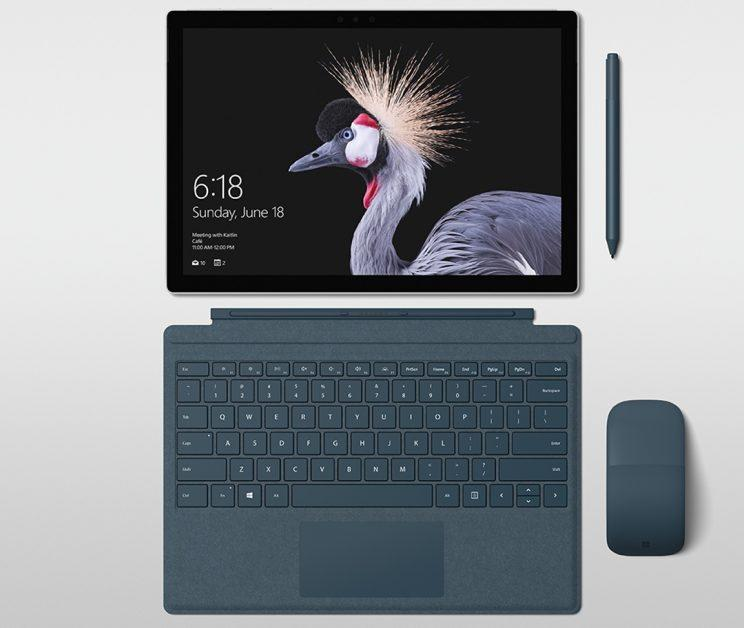 Microsoft Surface keyboard with fabric.