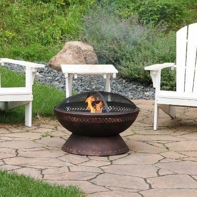 <p>This <span>Steel Wood Burning Fire Pit</span> ($135, originally $162) pairs well with s'mores.</p>