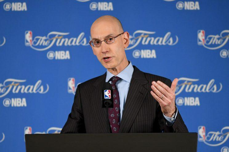 NBA commissioner Adam Silver is working to keep labor peace. (Getty Images)