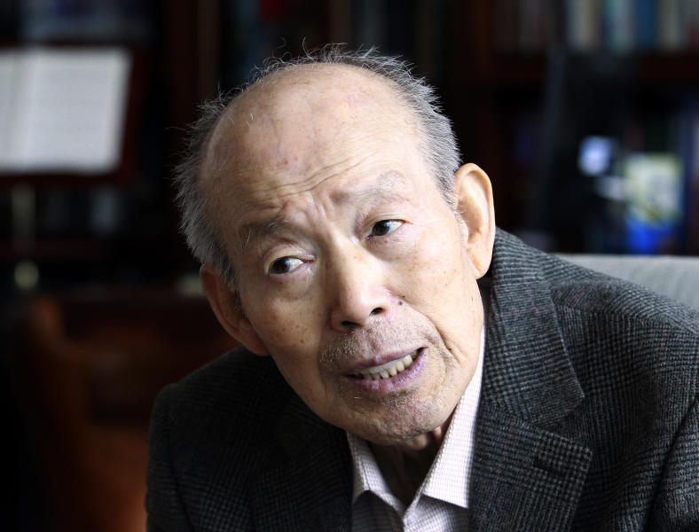 In this Feb. 14. 2014 photo, Kim Se-rin, 84, speaks during an interview at his house in Bucheon, South Korea. As Kim waits to travel this week, to North Korea to reunite with his sister he hasn't seen in six decades, he tries to balance his excitement with a large dose of nervousness and skepticism.(AP Photo/Ahn Young-joon)