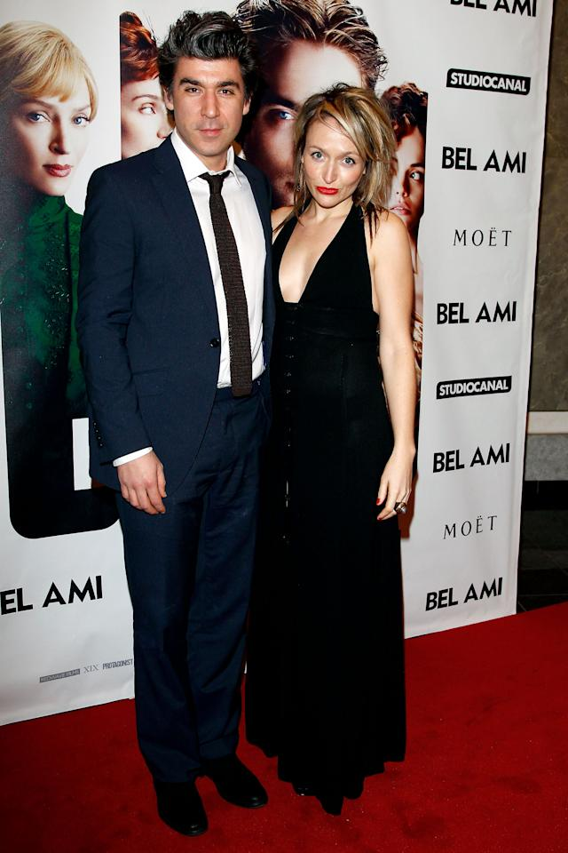"""BERLIN, GERMANY - FEBRUARY 17:  James Lance and his girlfriend attend the """"Bel Ami"""" Party during day nine of the 62nd Berlinale International Film Festival at Meistersaal on February 17, 2012 in Berlin, Germany.  (Photo by Andreas Rentz/Getty Images)"""