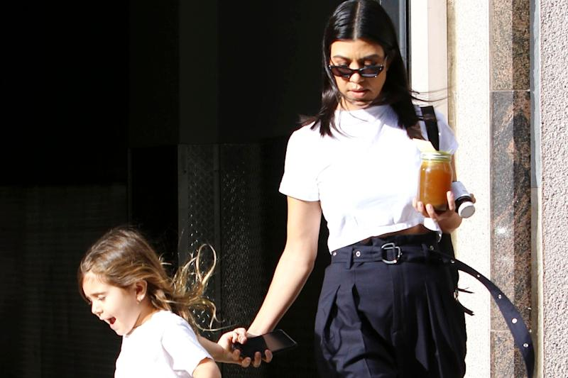 premium selection 2835f 7a513 Kourtney Kardashian Steps Out in Adidas New Arkyn Boost Sneakers With  Daughter