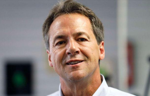 PHOTO: Democratic presidential candidate Montana Gov. Steve Bullock speaks to reporters after touring the POET Biorefining facility, July 9, 2019, in Gowrie, Iowa. (Charlie Neibergall/AP)