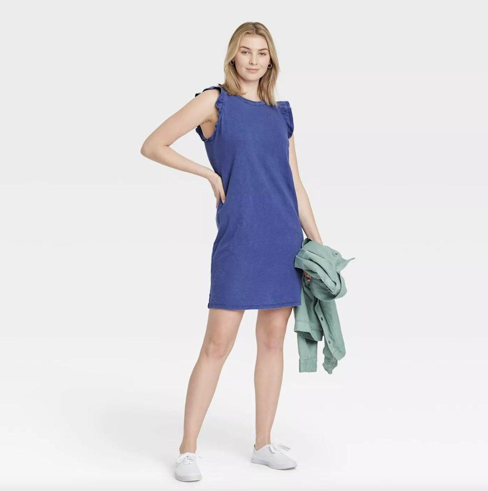 <p>This <span>Universal Thread Tank Dress</span> ($15) comes in a bunch of different colors, but we're loving the mid-toned blue.</p>