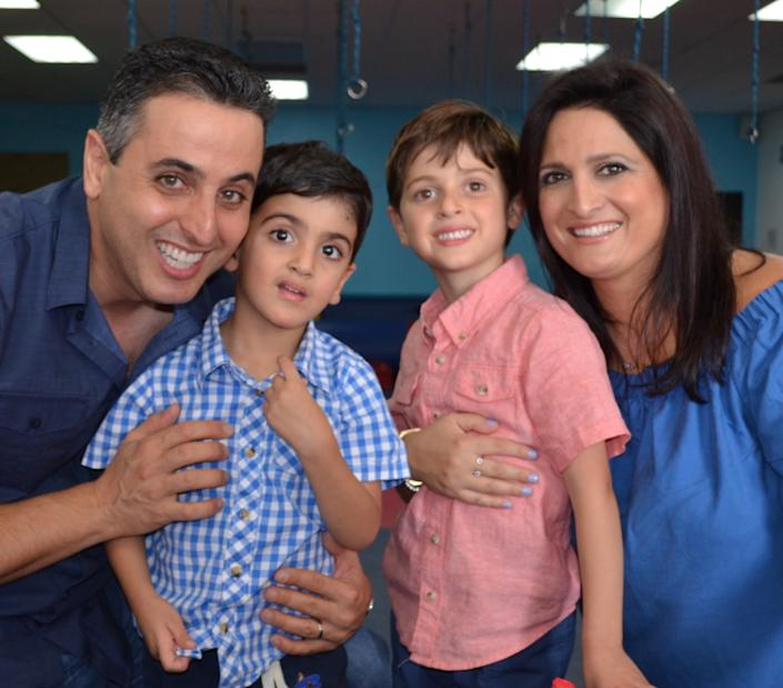 The Kakhoda family. Behdad, Eli, Aaron and Sanam. (Photo: courtesy of the family)