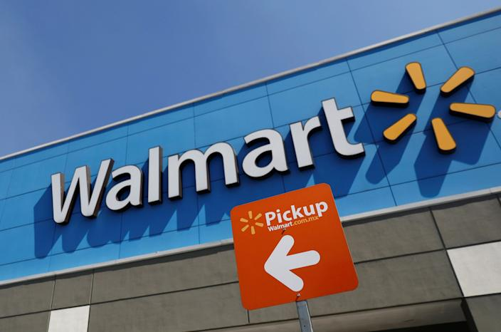 A file photo of a Walmart sign.