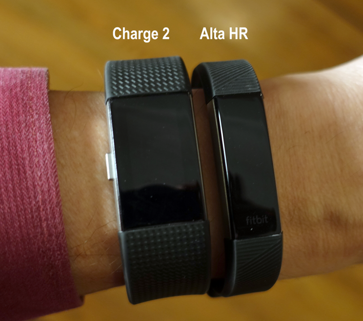 Look how much thinner the Alta HR is than its predecessor, despite having almost all of the same features.