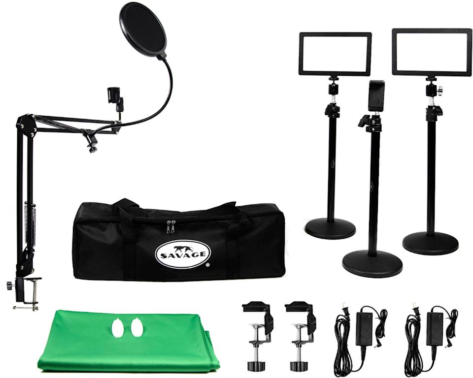"""Let him know you support his Twitch streaming career dreams with a kit that will help him get started. <br><br><strong>Savage Universal</strong> Pro Gamer Live Stream Accessory Kit, $, available at <a href=""""https://go.skimresources.com/?id=30283X879131&url=https%3A%2F%2Fwww.bestbuy.com%2Fsite%2Fsavage-universal-pro-gamer-live-stream-accessory-kit%2F6393715.p%3FskuId%3D6393715"""" rel=""""nofollow noopener"""" target=""""_blank"""" data-ylk=""""slk:Best Buy"""" class=""""link rapid-noclick-resp"""">Best Buy</a>"""