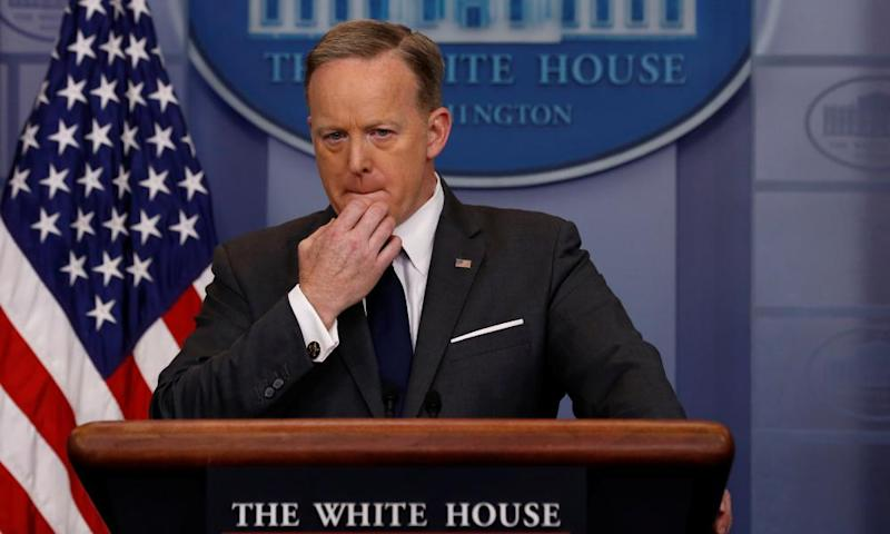 Sean Spicer at white house daily press briefing