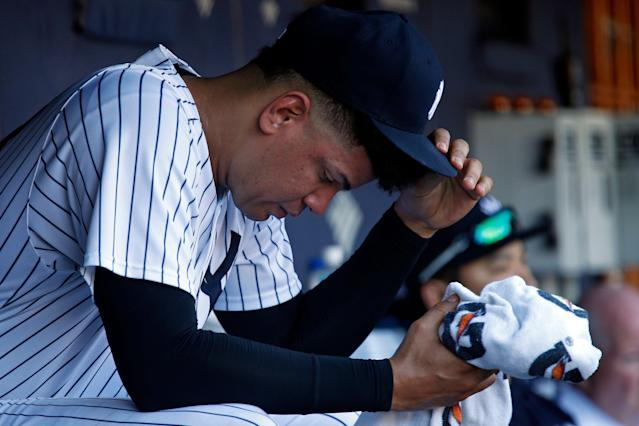 Yankees reliever Dellin Betances will be out until at least June. (AP Photo)