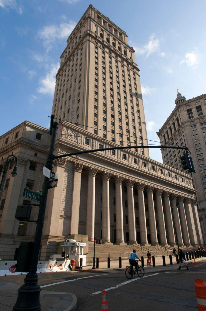 <p>Neoclassical architecture contined to appeal throughout the twentieth century, especially in civic buildings such as capitols and courthouses. The Thurgood Marshall U.S. Courthouse in lower Manhattan, designed by Cass Gilbert and his son Cass Gilbert, jr., and renamed in 2001 for Associate Justice Marshall, is one such example. </p><p>The sixty-story building, marked by a pilastered facade atop a broad colonnade, was one of the first federal skyscrapers built; it was complete in 1936. The United States Court of Appeals for the Second Circuit and the United States District Court for the Southern District of New York hear cases in the courthouse.</p>