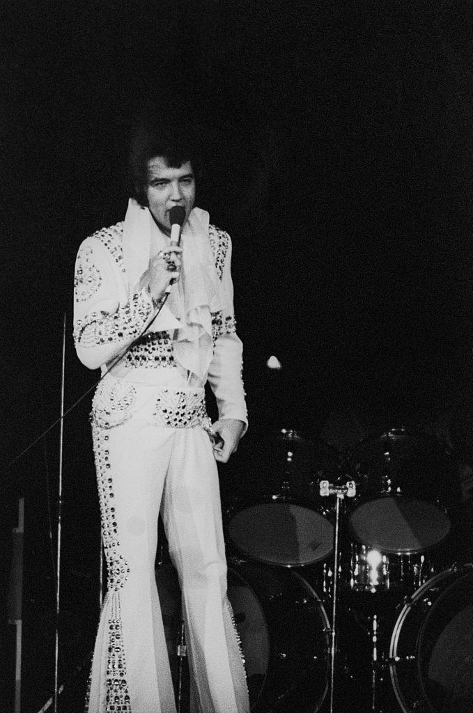 <p>In 1970, Presley had on a one-month residence in Las Vegas, where he introduced people to his karate dance moves and his famous white and gold jumpsuit. The singer recorded the album <em>On Stage</em> from these shows.</p>