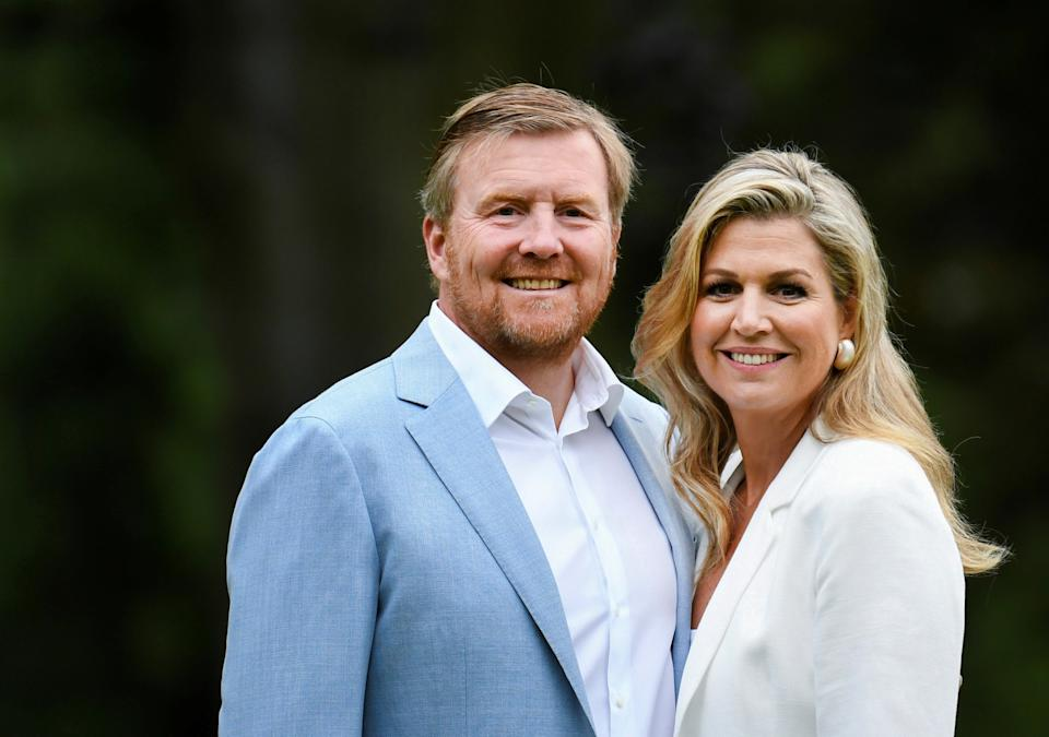 King Willem-Alexander and Queen Maxima of the Dutch Royal family pose during an official photo session in The Hague, Netherlands July 17, 2020. REUTERS/Piroschka van de Wouw/Pool