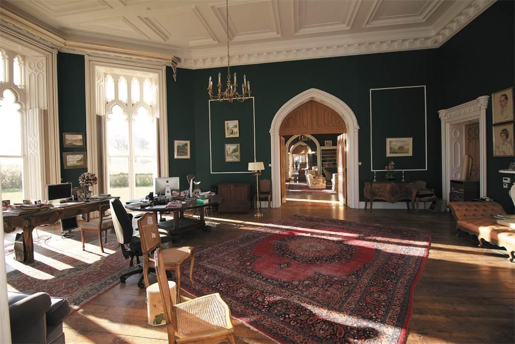 <p>The estate is managed from the huge home office. (Sotheby's International Realty) </p>