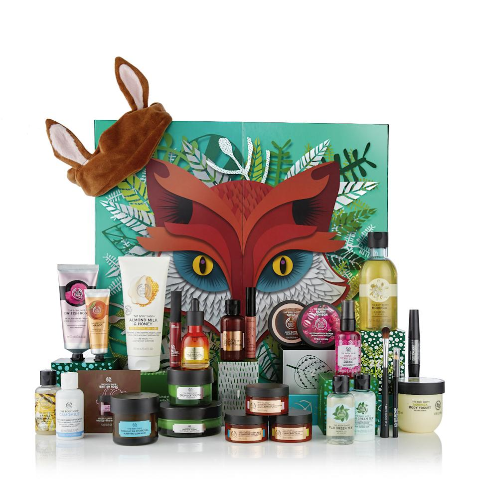 """<p>Treat yourself to an indulgent December with this $250 <a rel=""""nofollow"""" href=""""https://www.thebodyshop.com/en-au/gifts/beauty-advent-calendars/25-days-of-the-enchanted-ultimate-advent-calendar/p/p002910""""><span>The Body Shop Ultimate Advent Calendar</span></a>. The calendar includes 25 bath, body,skincare, makeup, faircare and accessories, including a scrub, shea butter, a sleeping mask and an eyeshadow brush. </p>"""