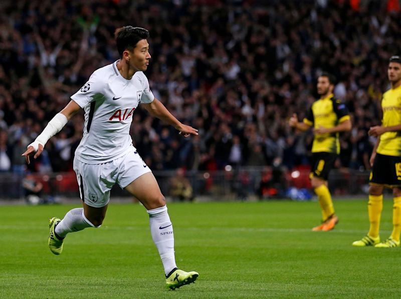 Son gave Spurs the lead at Wembley (Getty)