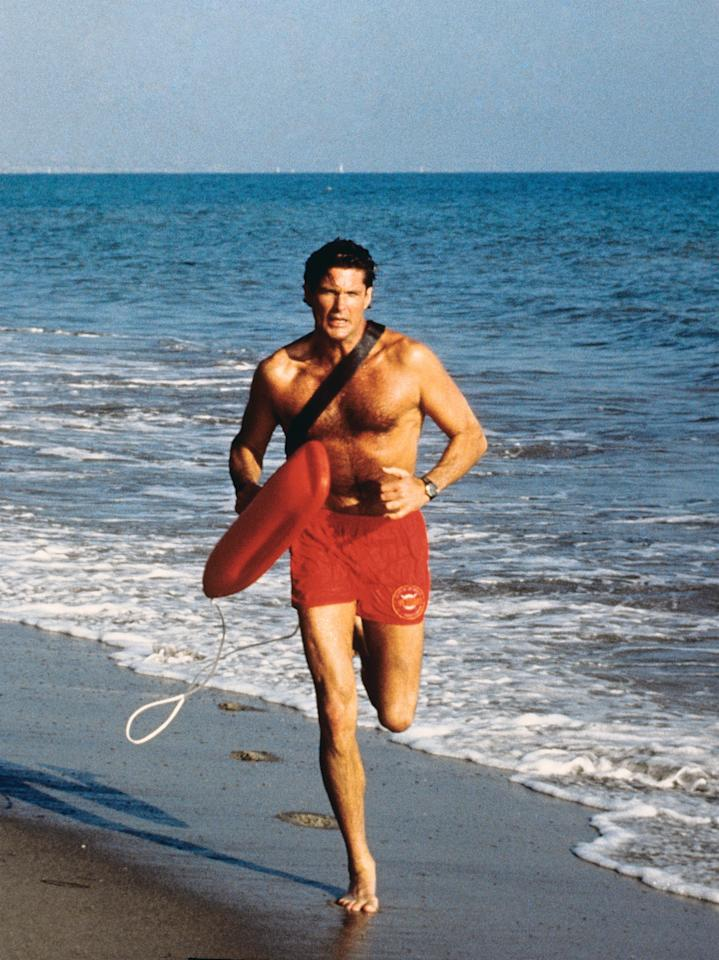 BAYWATCH, David Hasselhoff, 1989-2001. © All-American Television / Courtesy: Everett Collection