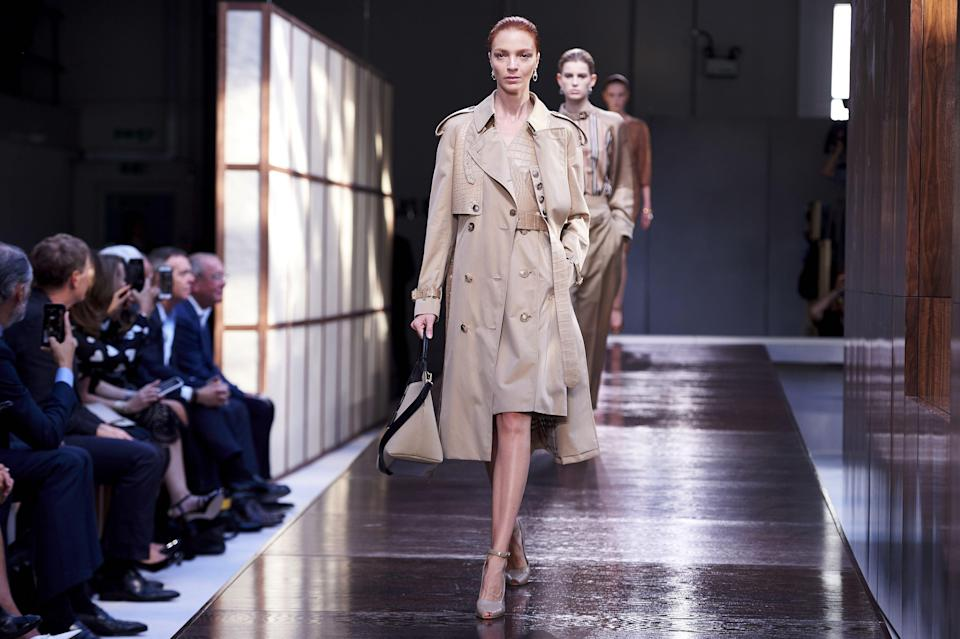 Burberry's more traditional trenchcoat design (AFP via Getty Images)
