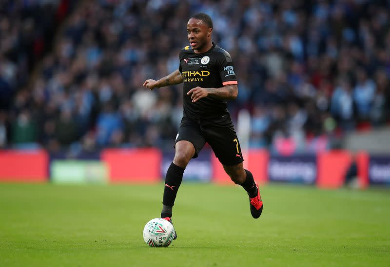 Soccer: Manchester City's Sterling backs anti-racism protests