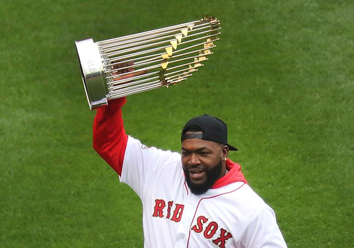 Former Boston Red Sox star David Ortiz was reportedly shot in the Dominican Republic on Sunday. (John Tlumacki/The Boston Globe via Getty Images)