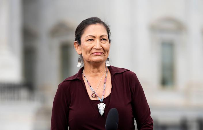 Rep. Deb Haaland (D-N.M.), one of two Native American female lawmakers to have ever served in Congress, is introducing a bill holding the U.S. government accountable for its Indian boarding school policy. (Photo: Bill Clark via Getty Images)