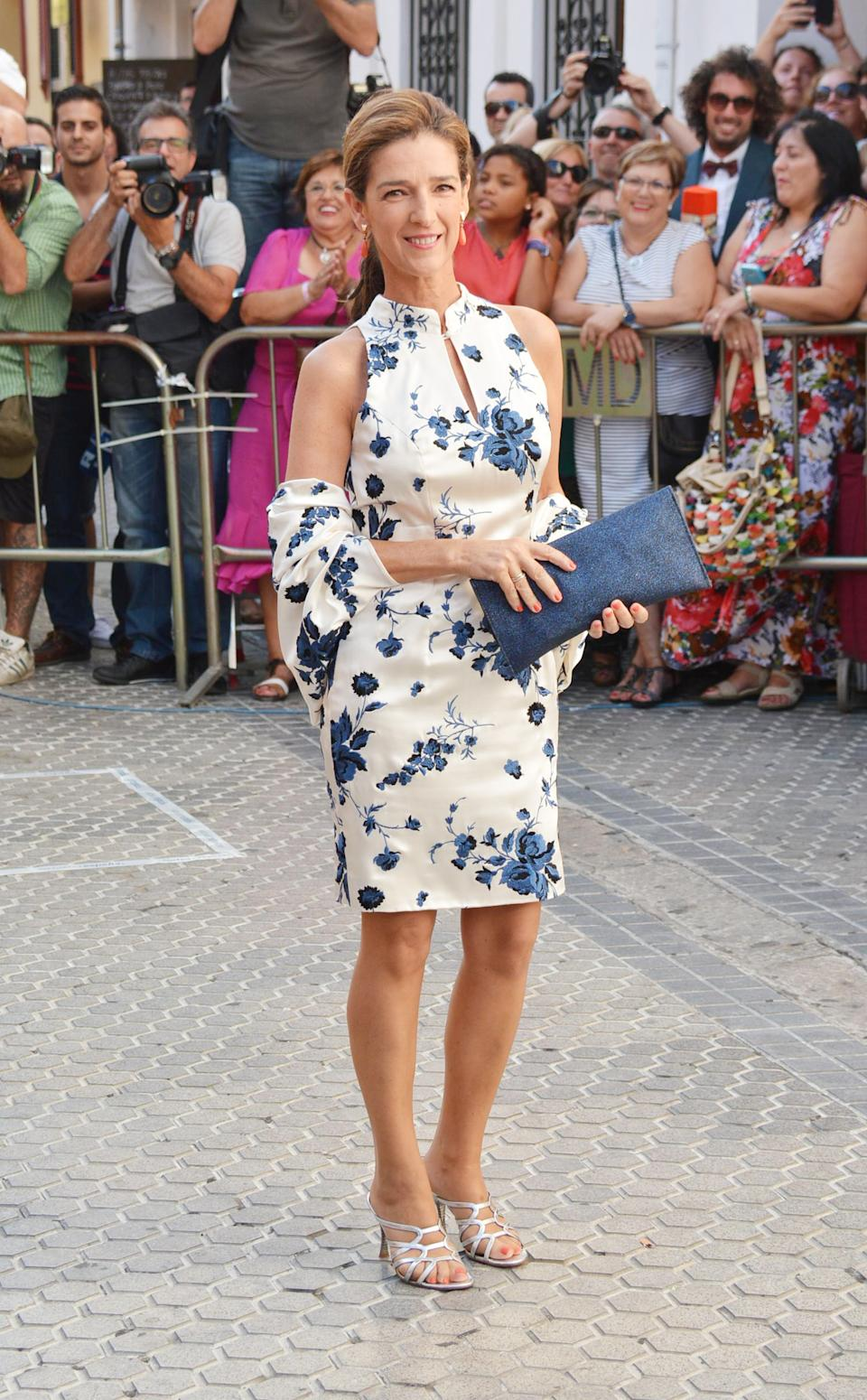 SEVILLE, SPAIN - JULY 12: Paloma Garcia Pelayo attends the wedding of Spanish bullfighter Francisco Rivera and Lourdes Montes on July 12, 2014 in Seville, Spain.  (Photo by Europa Press/Europa Press via Getty Images)