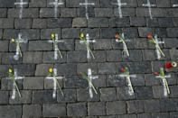 Czech citizens remembered their dead on the first anniversary of the death of the first Czech Covid-19 patient