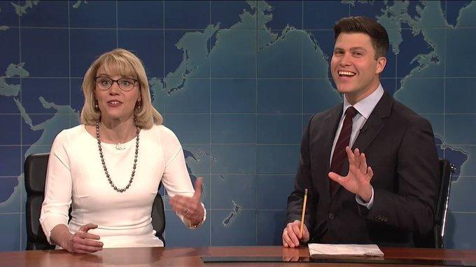 Kate McKinnon Channels Bobble-Head Betsy DeVos On 'Saturday Night Live'