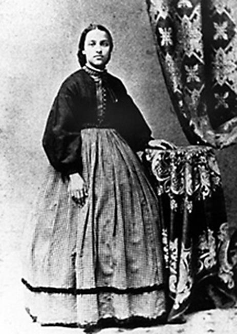 <p>1862 – MARY JANE PATTERSON – EDUCATION – First African-American woman to earn a B.A. — Portrait of Mary Jane Patterson in 1862. (Oberlin College Archives via Wikipedia) </p>