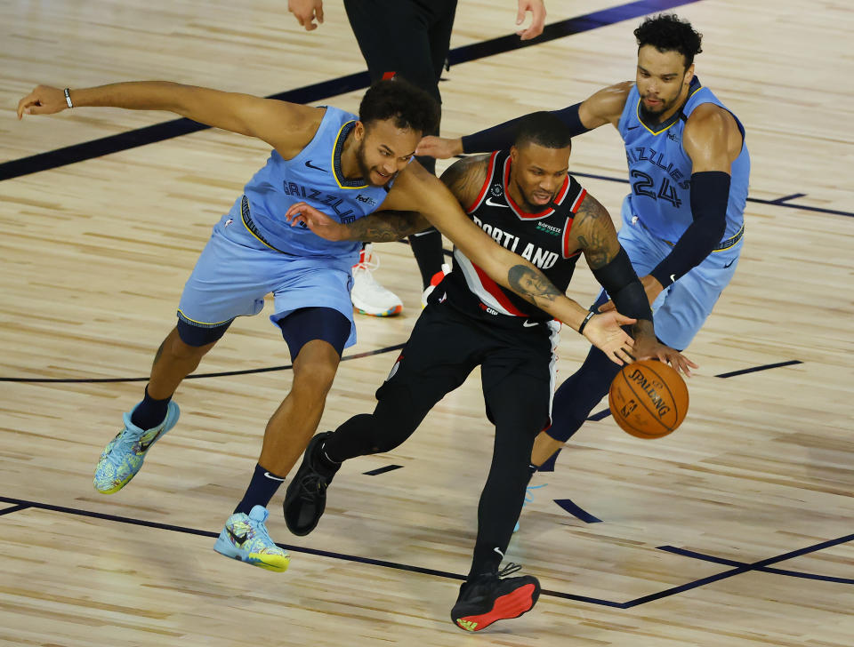 Portland rode another frantic rally to secure a playoff spot on Saturday. (Kevin C. Cox/Getty Images)