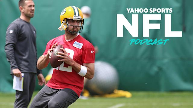 After a disappointing 2018 that resulted in the firing of HC Mike McCarthy, Aaron Rodgers and new HC Matt Lafleur hope to take back the NFC North crown. Terez Paylor and Charles Robinson preview the NFC on the latest Yahoo Sports NFL Podcast. (Photo by Larry Radloff/Icon Sportswire via Getty Images)