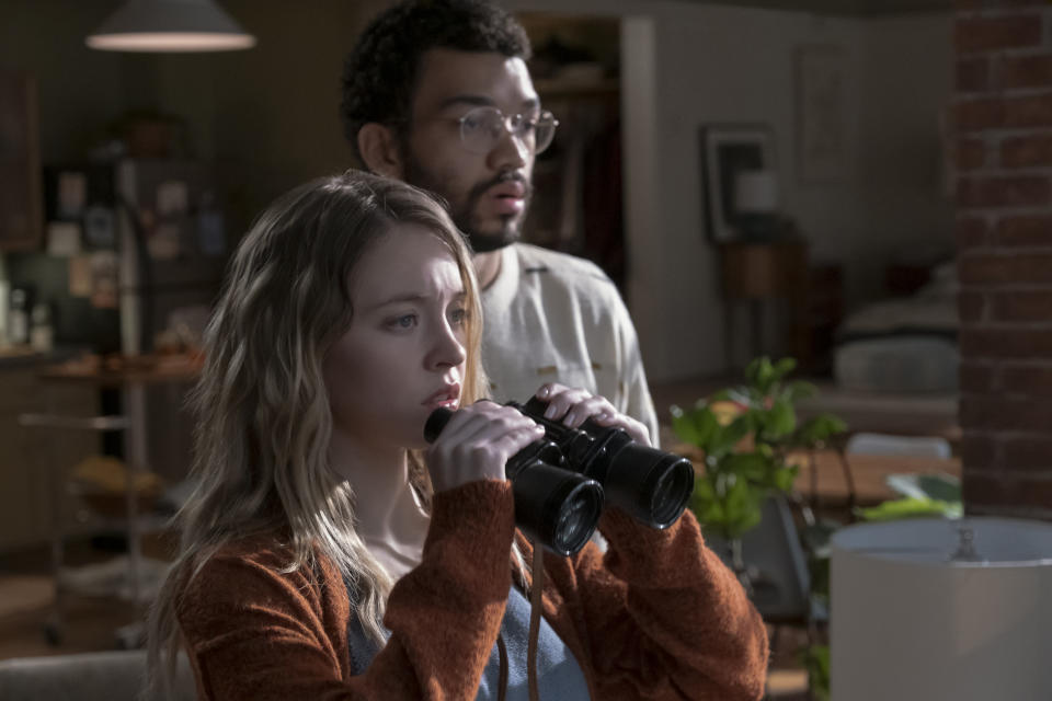 Sydney Sweeney and Justice Smith star in The Voyeurs (Amazon Prime Video)