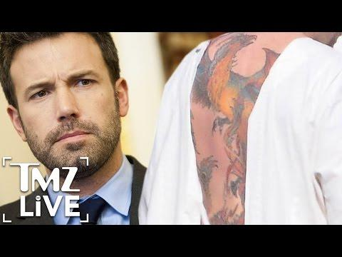 """<p>Ben Affleck claimed that the giant, full-color phoenix tattoo on his back wasn't real when fans first caught sight of it. It has since been proven to be very real indeed. </p><p><a rel=""""nofollow"""" href=""""https://www.youtube.com/watch?v=NotIJRl3jjs"""">See the original post on Youtube</a></p>"""