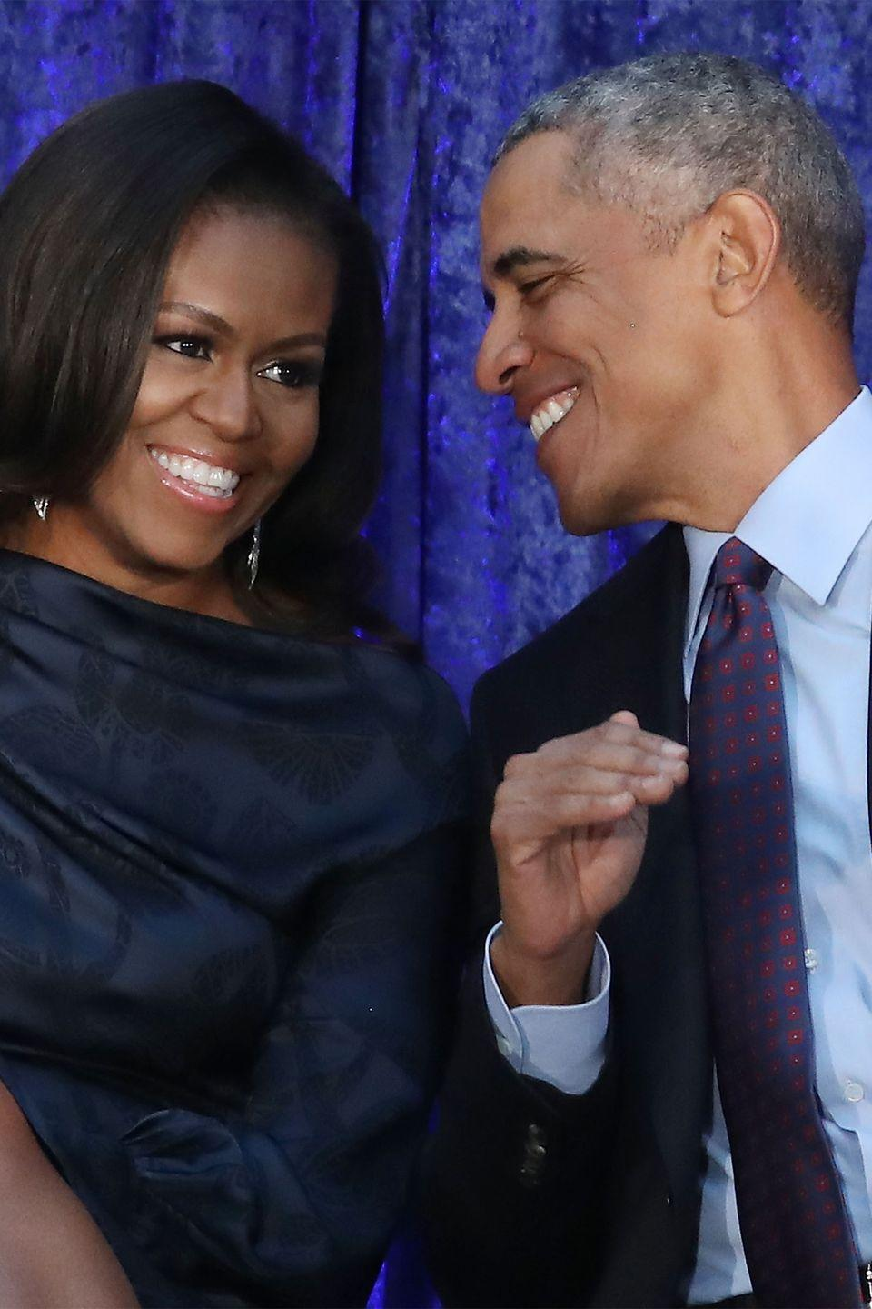 "<p>The Obamas made history in 2008 as the first black President and First Lady of the United States, and have continued to inspire us over the years. From sweet <a href=""https://www.harpersbazaar.com/celebrity/latest/news/a20011/celebrities-wish-michelle-obama-happy-birthday/"" rel=""nofollow noopener"" target=""_blank"" data-ylk=""slk:birthday tributes"" class=""link rapid-noclick-resp"">birthday tributes</a> to adorable <a href=""https://www.harpersbazaar.com/culture/features/g6295/barack-and-michelle-obama-anniversary/"" rel=""nofollow noopener"" target=""_blank"" data-ylk=""slk:candid moments"" class=""link rapid-noclick-resp"">candid moments</a>, the former POTUS and FLOTUS are a power couple that never fails to keep it real.</p><p><a href=""https://www.harpersbazaar.com/culture/features/a25005940/oprah-michelle-obama-becoming-interview/"" rel=""nofollow noopener"" target=""_blank"" data-ylk=""slk:Talking to Oprah"" class=""link rapid-noclick-resp"">Talking to Oprah</a> about love in her new book, <em><a href=""https://www.amazon.com/Becoming-Michelle-Obama/dp/1524763136?tag=syn-yahoo-20&ascsubtag=%5Bartid%7C10063.g.34588738%5Bsrc%7Cyahoo-us"" rel=""nofollow noopener"" target=""_blank"" data-ylk=""slk:Becoming"" class=""link rapid-noclick-resp"">Becoming</a></em>, Michelle stated: ""I always thought love was up close. Love is the dinner table, love is consistency, it is presence. So I had to share my vulnerability and also learn to love differently. It was an important part of my journey of becoming. Understanding how to become us.""</p>"