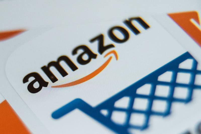 In this file photo taken on August 28, 2019 shows the application logo of online retailer Amazon displayed on a tablet.