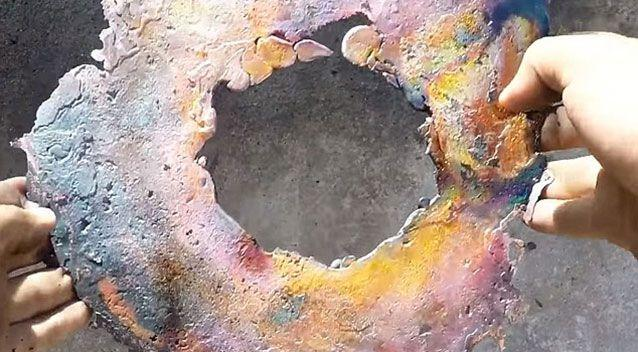 What remained of the burger after the experiment. Source: YouTube.