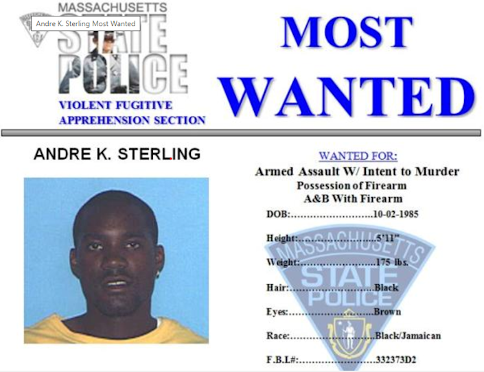 Andre Sterling was shot and killed by US marshalls in the Bronx on Friday morning (Massachusetts State Police)