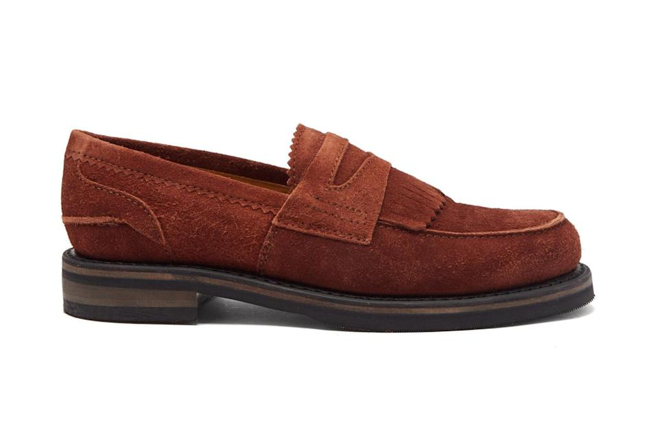 """$473, Matches Fashion. <a href=""""https://www.matchesfashion.com/us/products/Our-Legacy-Stacked-sole-suede-penny-loafers-1353990"""" rel=""""nofollow noopener"""" target=""""_blank"""" data-ylk=""""slk:Get it now!"""" class=""""link rapid-noclick-resp"""">Get it now!</a>"""