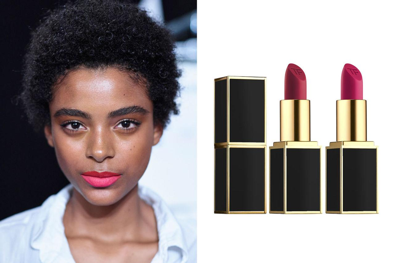 "<p>To add even more dimension to your lip color, try swiping on a slightly darker color on your top lip than your bottom lip. So goes the unconventional wisdom at the Cushnie et Ochs show, where <a rel=""nofollow"" rel=""nofollow"" href=""http://www.harpersbazaar.com/beauty/makeup/news/g8040/spring-2017-makeup-trends/?slide=16&thumbnails="">makeup artist Sammy Mourabit color-blocked</a> with a cherry red M.A.C. lipstick on top and a bright pink on the bottom look. For a fuller pout, <a rel=""nofollow"" rel=""nofollow"" href=""http://www.elle.com/beauty/makeup-skin-care/g28725/spring-2017-makeup-trends/?slide=27&thumbnails="">line with a red pencil</a> first.</p><p><strong>For a similar look, try Hourglass Girl Lip Stylo in 'Lover' and 'Innovator,' $32; <a rel=""nofollow"" rel=""nofollow"" href=""http://www.sephora.com/girl-lip-stylo-P415641?skuId=1892918&icid2=products%20grid%3Ap415641"">sephora.com</a>.</strong></p>"