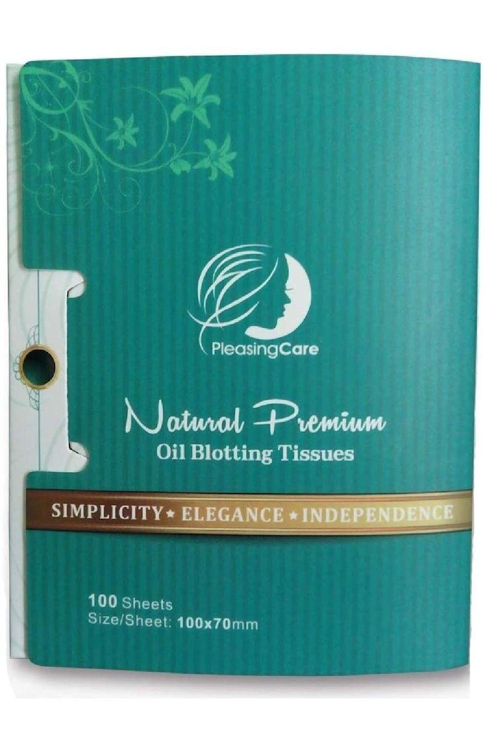 """<p><strong>PleasingCare</strong></p><p>amazon.com</p><p><strong>$6.95</strong></p><p><a href=""""https://www.amazon.com/dp/B00XENXJTO?tag=syn-yahoo-20&ascsubtag=%5Bartid%7C10049.g.35020776%5Bsrc%7Cyahoo-us"""" rel=""""nofollow noopener"""" target=""""_blank"""" data-ylk=""""slk:Shop Now"""" class=""""link rapid-noclick-resp"""">Shop Now</a></p><p>Next time your face feels so oily that your makeup could slide right off, sop up some of that <a href=""""https://www.cosmopolitan.com/style-beauty/beauty/a30169086/sebaceous-filaments-facts/"""" rel=""""nofollow noopener"""" target=""""_blank"""" data-ylk=""""slk:sebum"""" class=""""link rapid-noclick-resp"""">sebum</a> (sorry, that was gross) with both sides of these extra-large sheets. <strong>Made with natural linen fibers and bamboo charcoal</strong>, these blotting papers have more than 7,500 positive reviews on Amazon to back them up. </p>"""