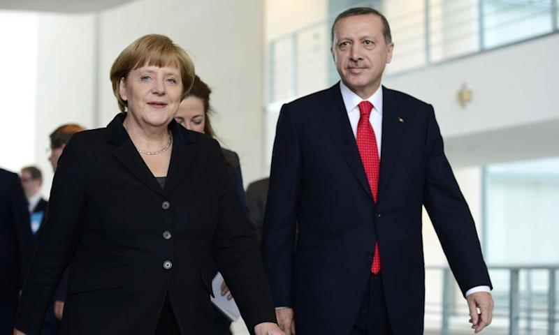 Angela Merkel and Erdoğan in Berlin in 2012.