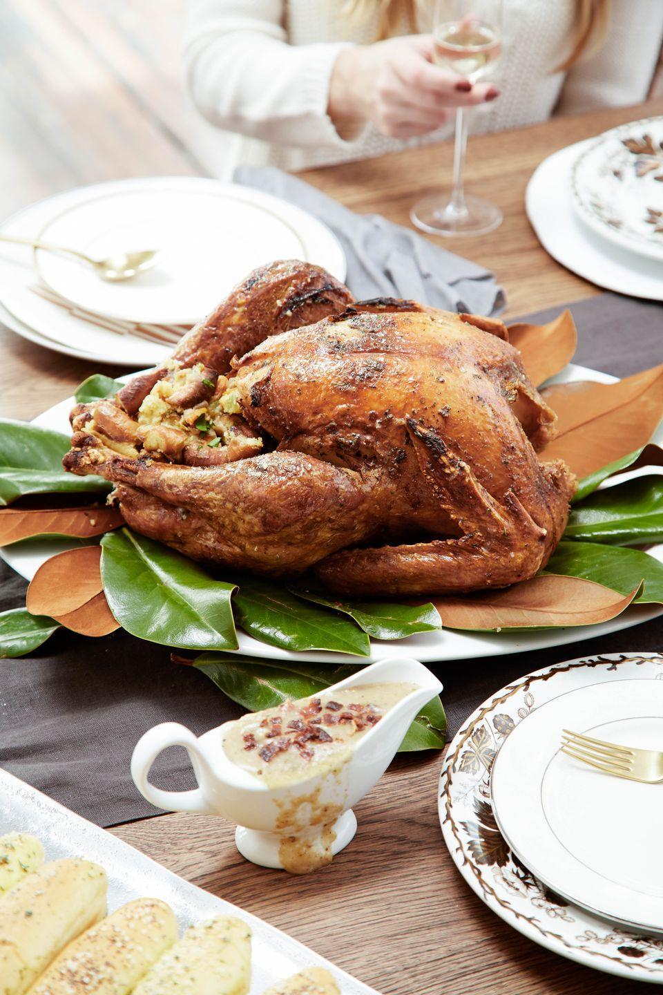 """<p>If your gravy doesn't have bacon in it, don't bother.</p><p>Get the recipe from <a href=""""/holiday-recipes/thanksgiving/recipes/a44844/bacon-caramelized-onion-gravy-recipe/"""" data-ylk=""""slk:Delish"""" class=""""link rapid-noclick-resp"""">Delish</a>.</p>"""