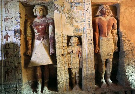 'Exceptionally' well-preserved 4400-year-old tomb among new treasures unveiled by Egypt