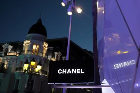 Chanel logo is seen on the company's store in Monte Carlo