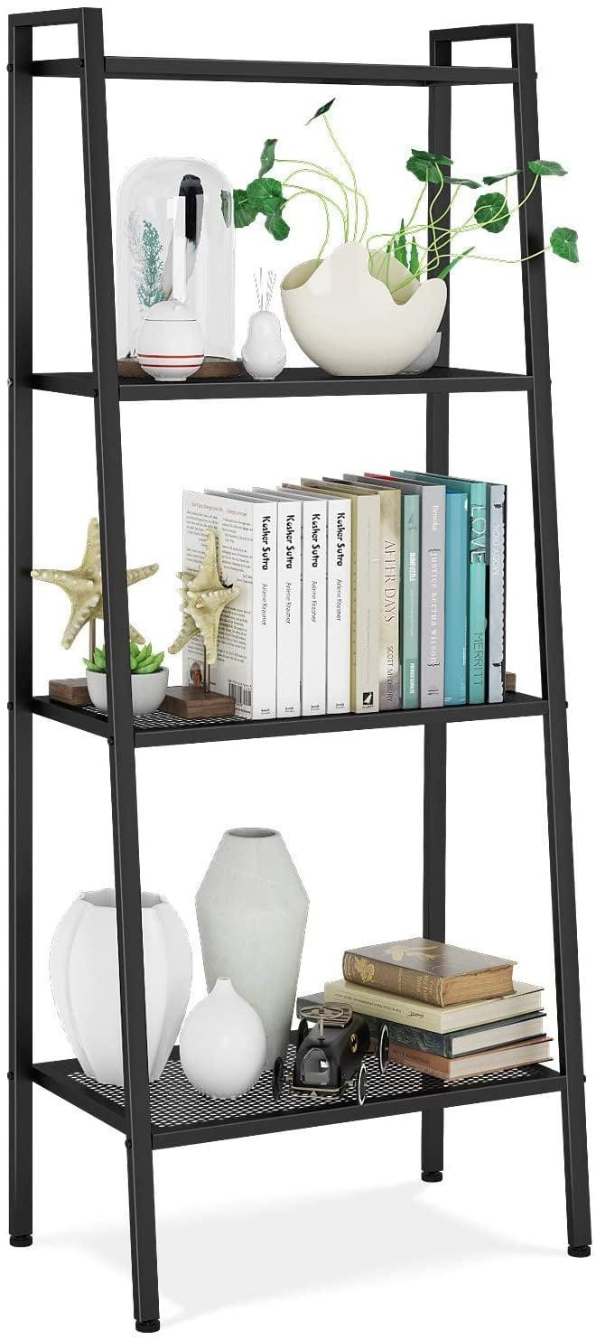 <p>Create a home for your plants or a way to add storage while displaying your necessities with the <span>Homfa Metal 4 Shelf Bookcase</span> ($55).</p>